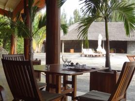 Restaurant à Mananjary, hotel Vahiny Lodge